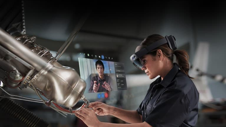 HoloLens 2 in use