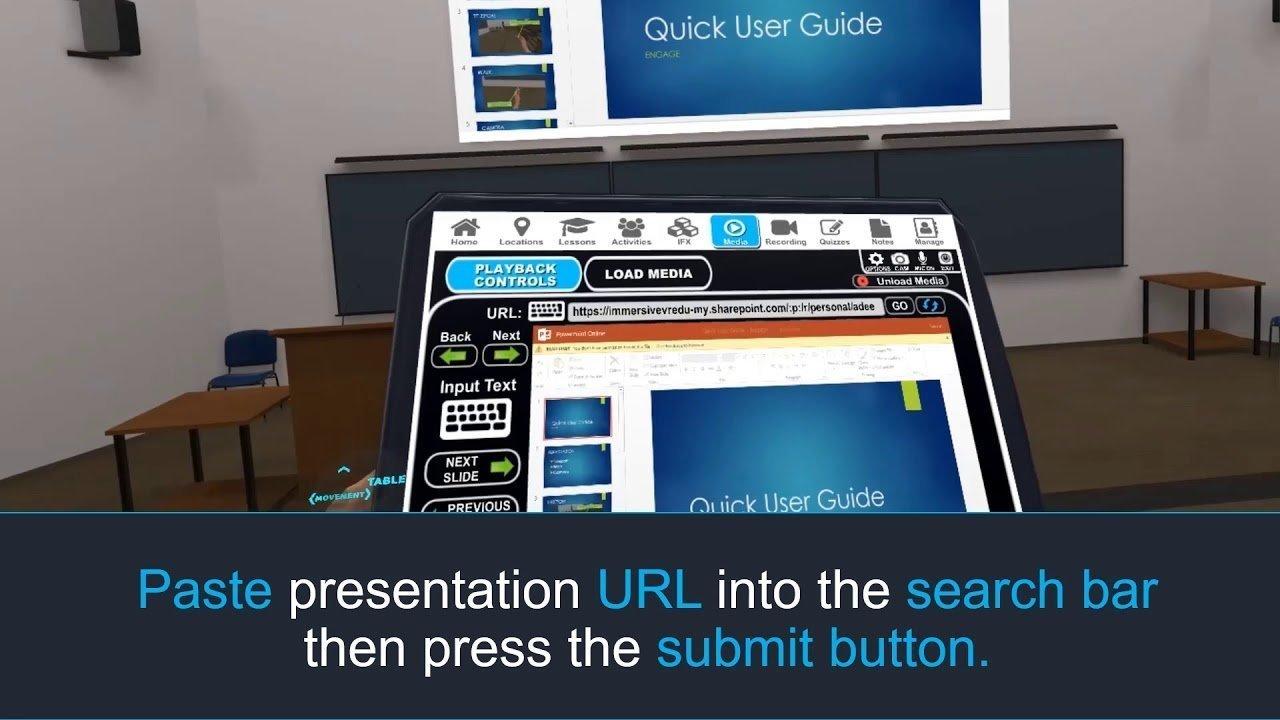 Using Engage VR for virtual meetingspresentation sharing